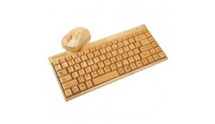 Full Bamboo Handmade Wireless keyboard and Mouse Combo